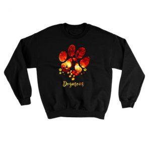 Dog mom maple Halloween Sweatshirt