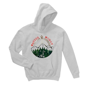Wander woman hiking mountain forest camping Hoodie