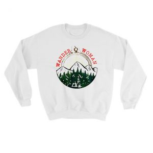 Wander woman hiking mountain forest camping Sweatshirt