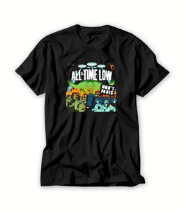 All time low don't panic T shirt