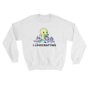 Baby octopus I love crafting Sweatshirt