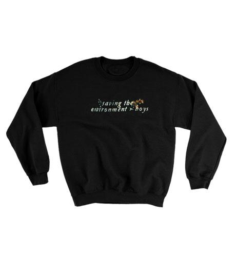 Saving the environment boys Sweatshirt