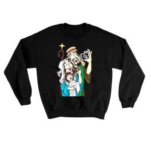 Baby Jesus Selfie Ugly Christmas Sweatshirt
