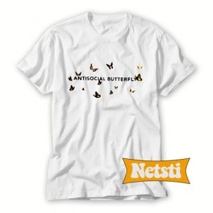 Antisocial butterfly Chic Fashion T Shirt