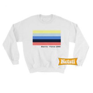 Biarritz France 1990 Chic Fashion Sweatshirt