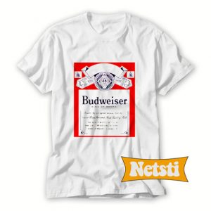 Budweiser Distressed Label Chic Fashion T Shirt
