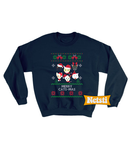 Cat Christmas Sweater.Cat Christmas Ugly Christmas Sweatshirt