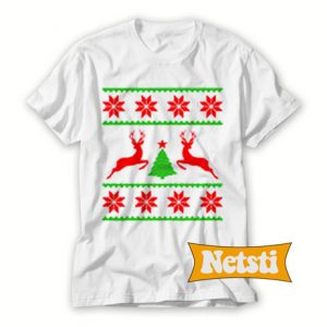 Deer christmas white Chic Fashion T Shirt