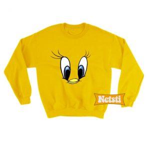 Tweety Bird Face Chic Fashion Sweatshirt