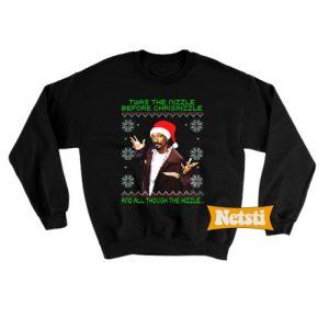 Twas the nizzle before christmizzle Ugly Christmas Sweatshirt