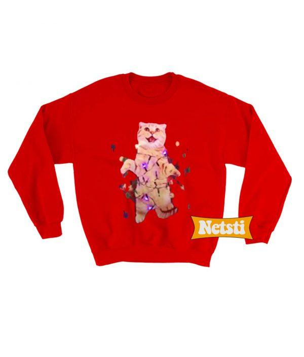 Cat Christmas Ugly Christmas Sweatshirt