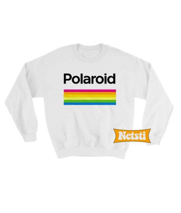 Polaroid Color Spectrum Horizontal Chic Fashion Sweatshirt