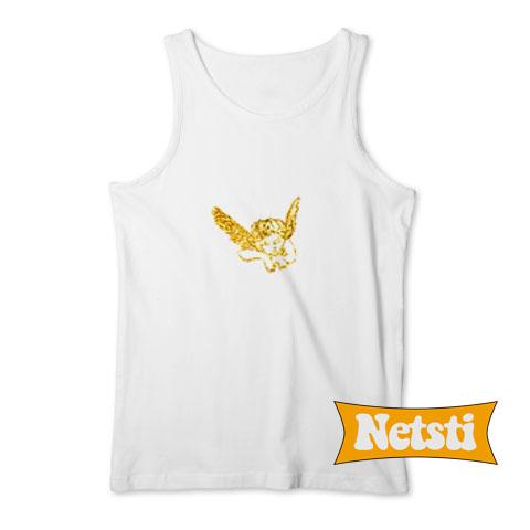 Skylar Gold Angel Print Chic Fashion Tank Top