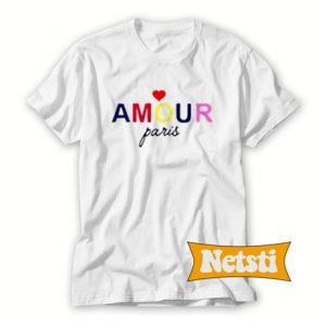 Amour Paris Chic Fashion T Shirt