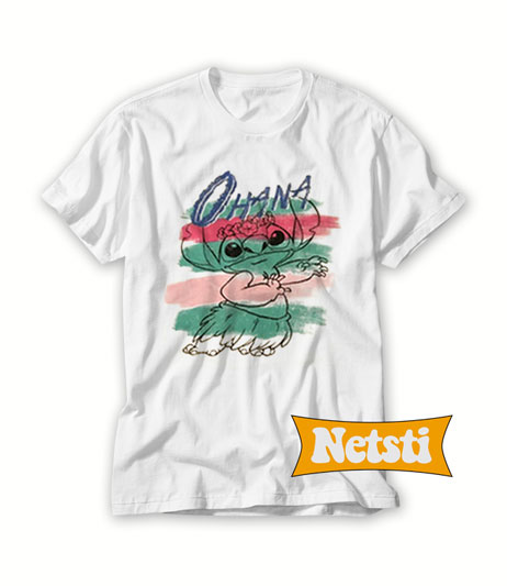 0112b6f7f Disney Lilo Stitch Ohana Chic Fashion T shirt Unisex This Year