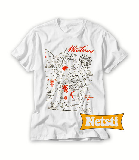 Game Of Thrones Map Chic Fashion Shirt Short-Sleeve Uni T-Shirt Game Of Thrones Map T Shirt on game of thrones pokemon shirt, game of thrones stark shirt, game of thrones school shirt, united states map shirt, africa map shirt, game of thrones beer bottles, fargo map shirt, game of thrones table book, westeros map shirt,