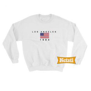 Los Angeles 1984 Usa Flag Chic Fashion Sweatshirt