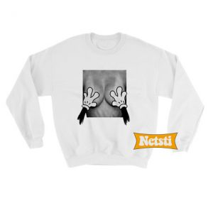 Mickey Mouse Hands Over Breast Chic Fashion Sweatshirt