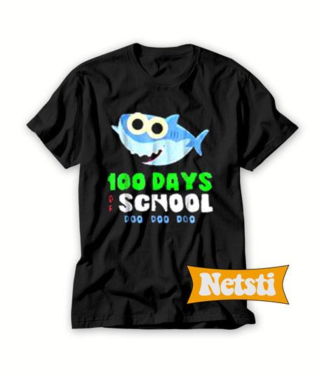 100 Days Of School Baby Shark Doo Do Chic Fashion T Shirt