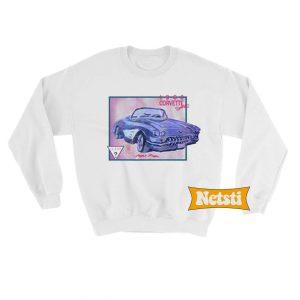 1960 corvertte convertible Chic Fashion Sweatshirt