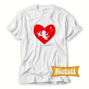 Cupid Heart Chic Fashion T Shirt