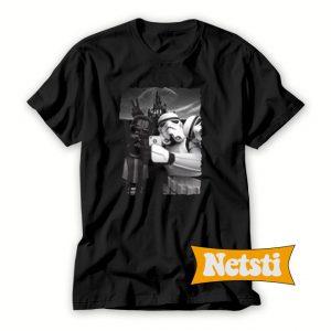 Darth Vader And Stormtrooper Selfie In Disneyland Chic Fashion T Shirt