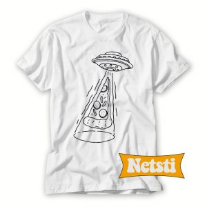 UFO and pizza Chic Fashion T Shirt