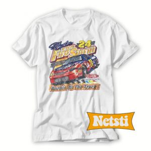 Vtg Jeff Gordon Fire Storm 24 Nascar Chic Fashion T Shirt