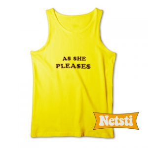 As She Pleases Chic Fashion Tank Top