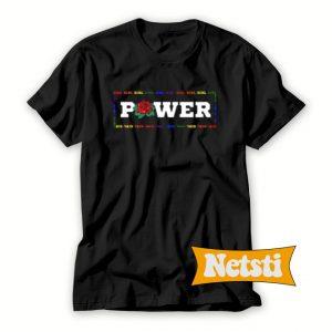 Girl Power Rainbown Chic Fashion T Shirt