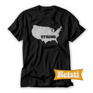 USA Strong Chic Fashion T Shirt