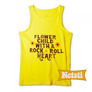 Rock & Roll Flower Child Sunset Chic Fashion Tank Top