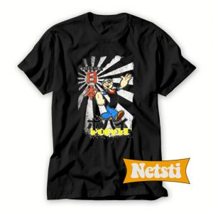 Japanese Popeye Chic Fashion T Shirt