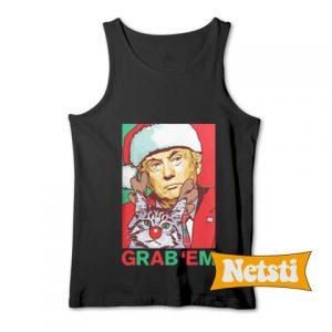 Santa Trump Cat Reindeer Grab Em Chic Fashion Tank Top