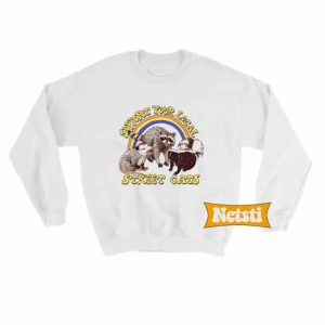Street Cats Chic Fashion Sweatshirt