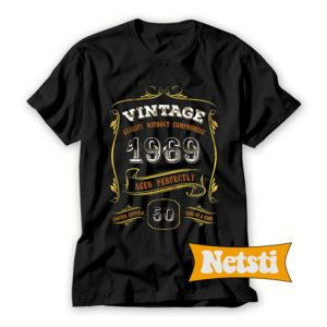 Vintage 1969 Aged Perfectly Chic Fashion T Shirt