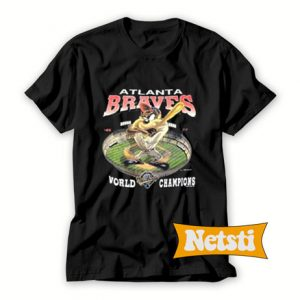 1993 Atlanta Braves Taz Chic Fashion T Shirt