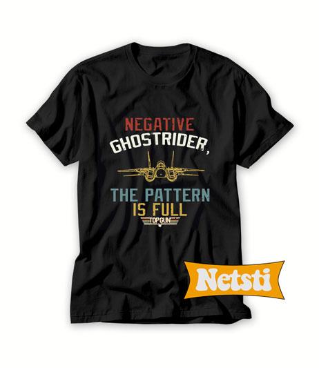 Negative ghostrider the pattern is full top gun Chic Fashion T Shirt