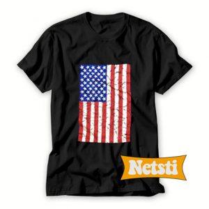 Vintage 80s USA American Flag Chic Fashion T Shirt