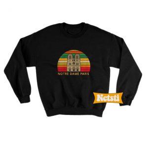 Vintage Notre Dame Chic Fashion Sweatshirt