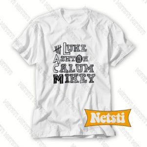 5 sos luke irwin clifford hood Chic Fashion T Shirt