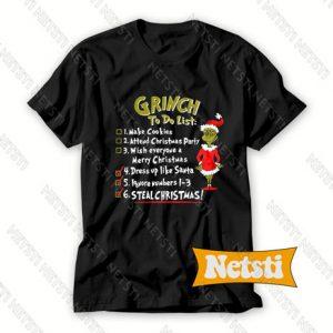 Christmas Grinch To Do List Chic Fashion T Shirt