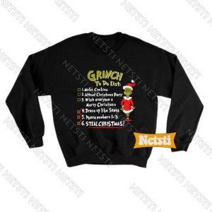 Christmas Grinch To Do List Chic Fashion Sweatshirt