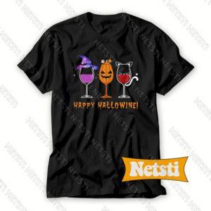 Happy Hallowine Chic Fashion T Shirt