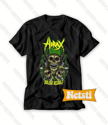 Hirax Violent Assault Band Chic Fashion T Shirt