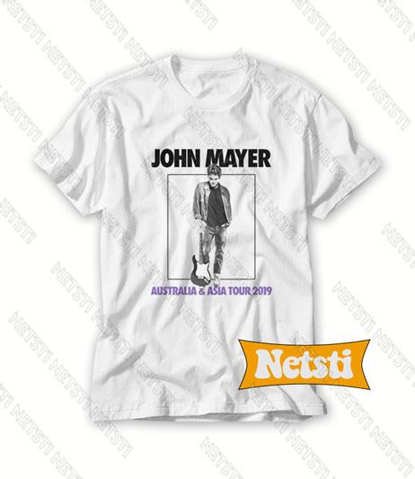 John Mayer Tour Australia And Asia 2019 Band Chic Fashion T Shirt