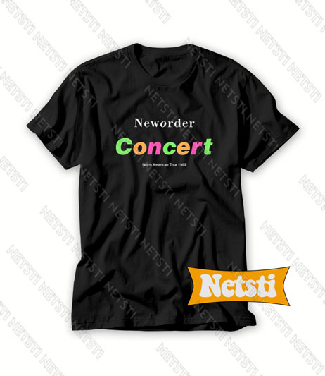New Order Concert North American Tour 1989 Band Chic Fashion T Shirt