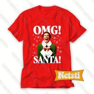 OMG SANTA Chic Fashion T Shirt
