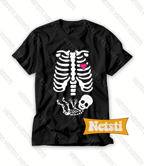 Skeleton Baby Halloween Chic Fashion T Shirt