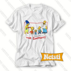 Vintage 1990 The Simpsons Family Bart Marge Homer Chic Fashion T Shirt